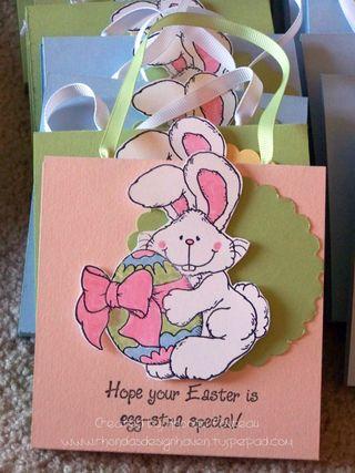 Easter treat bags - April 2009 - pink